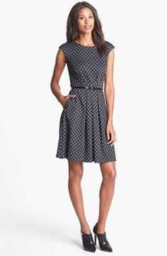Maggy London Jacquard Ponte Fit & Flare Dress available at Lovely Dresses, Dresses For Work, Michael Kors Bedford, Fit Flare Dress, Nordstrom Dresses, Dress Me Up, Kate Middleton, Tory Burch, Fashion Outfits