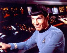 Everyone needs a smiling Spock on their board, especially now. -- YES
