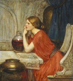 Circe (detail from The Sorceress) John William Waterhouse