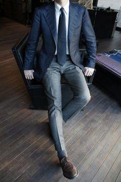 Saturday off work Blue Blazer Outfit, Blazer Outfits Men, Mens Fashion Blazer, Suit Fashion, Business Casual Men, Business Fashion, Men Casual, Smart Casual, Der Gentleman