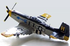 I'm pretty sure that that cockpit cover is not Lego but this is still an excellent version of one the most awesome allied planes of WWII.