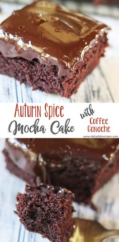 Truly decadent perfect for Fall Autumn Spice Mocha Cake with Coffee Ganache will wow your family friends and guests. Rich chocolate overload with plenty of delicious spiced flavor. No Bake Desserts, Delicious Desserts, Yummy Food, Sweet Desserts, Fall Recipes, Real Food Recipes, Cupcake Recipes, Dessert Recipes, Mocha Cake