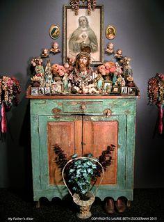 My Father's Altar,  Memento Mori solo exhibition 2009,  Laurie Beth Zuckerman, ICONARTE
