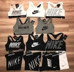 Nike Pro Shorts & Nike Sports Bra Exploded Nike Logo NWT - Each Sold Separately 32 Classy Pleated Dress Outfit Ideas For Fall And Winter Season Cheer Outfits, Sporty Outfits, Nike Outfits, Athletic Outfits, Teen Fashion Outfits, Nike Fashion, Fitness Fashion, Summer Outfits, Athletic Shoes