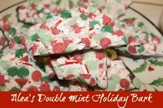 A delicious holiday bark that uses chocolate, white chocolate, mint, colored morsels, and crushed candy canes to create a flavorful and colorful candy bark.