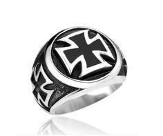 """Heavy Steel Jewelry-Sormus """"Black Iron Cross Ring"""""""
