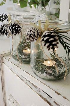 Idéias de artesanato para o Natal - decore sua casa discretamente - Weihnachten - Diy Crafts To Do, Fall Crafts, Christmas Crafts, Christmas Clay, Simple Crafts, Christmas Kitchen, Simple Christmas, Navidad Simple, Christmas Candle Decorations