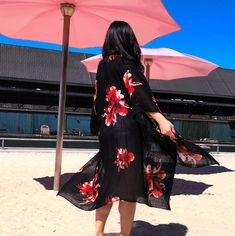 The Kimono Store Boho Beautiful, Beach Cover Ups, Floral Kimono, Kimono Fashion, Every Woman, Jacket Style, Summer Collection, Floral Prints, Celebrities