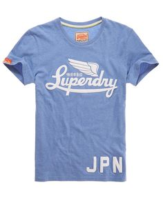 Superdry Icarus T-shirt - Men's T Shirts light blue with bold text