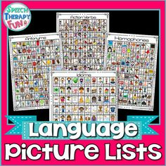 Do you need progress monitoring help, therapy ideas, functional decor or articulation homework? This AMAZING set addresses articulation sounds in the initial, medial and final positions! Get 100 productions in one session! Irregular Past Tense Verbs, Action Verbs, Progress Monitoring, Prepositions, Therapy Ideas, Speech And Language, Speech Therapy, Homework, Vocabulary