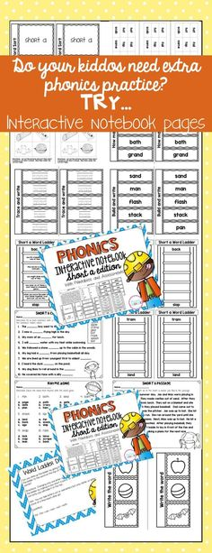 This resource is great practice for students that need phonics practice. This product contains interactive notebook pages, printables, and assessments. Perfect for grade students Daily 5 Activities, Sight Word Activities, Back To School Activities, Motivational Activities, Word Ladders, Phonemic Awareness Activities, Abc Phonics, Teaching Sight Words, Common Core Ela