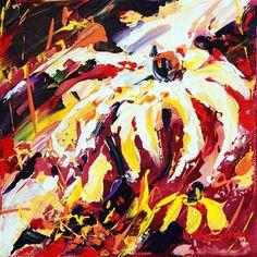 """Autumn flower"" - Original Fine Art for Sale - © Mikko Tyllinen Mix Media, Mixed Media Collage, Fall Flowers, Acrylic Colors, Acrylic Paintings, Fine Art Gallery, Art For Sale, Autumn, Autumn Flowers"