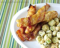 Bacon-Wrapped Honey Mustard Chicken Strips.