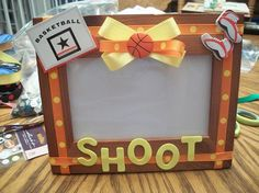 Basketball 4 x 6 Picture Frame by FancifulFrames on Etsy, $8.00