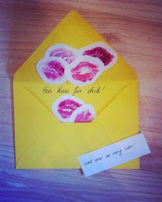 Ein Kuss für dich- weil einer zu wenig wäre, Geschenk, Fernbeziehung One kiss ...