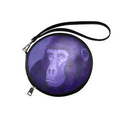 Violet Gorilla Round Makeup Bag (Model 1625)