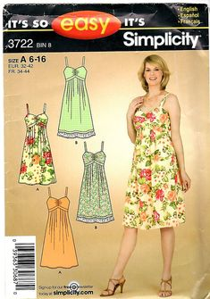 Misses Sun Dress with Empire Waist Gathered Bodice and