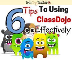 6 Tips to Using ClassDojo Effectively - Tech Crazy Teacher Classroom Tools, Classroom Behavior, Teacher Tools, Kindergarten Classroom, School Classroom, Classroom Organization, Classroom Management, Behaviour Management, Teaching Character