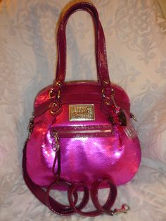 Coach Poppy 16303 Sweetheart Pink Sequin Bling Highlight Shoulder Bag Purse Cros | eBay