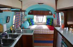Colorful Airstream interior