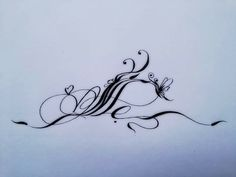 Caligraphy, Calligraphy Art, Girl Tattoos, Tattoos For Women, Writing Fonts, Hennas, Magic Circle, Brush Lettering, Flourish