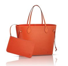 Louis Vuitton Neverfull, now available in Epi Piment.