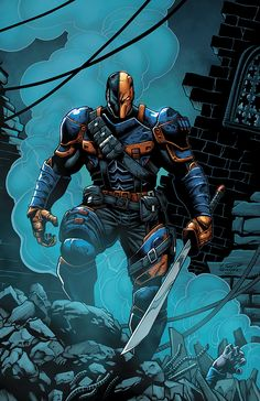 Deathstroke by William Snyder (pencils), Mustafa Moussa (inks) and Ross Hughes (colors) Dc Deathstroke, Deathstroke The Terminator, Comic Villains, Dc Comics Characters, Hq Marvel, Marvel Comics, Univers Dc, Comic Manga, Arte Dc Comics