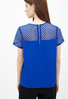 Lace-Paneled Top - Tops - 2000101558 - Forever 21 EU English