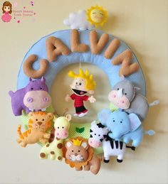 Customized Baby Nursery Name Wall Decor for Calvin. Felt Name.  Shop link https://www.etsy.com/ca/shop/RovicsPersonalTouch…