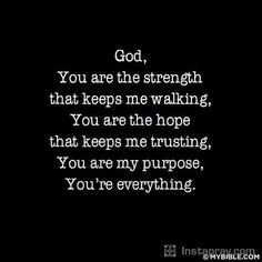 God you are my strength! ⚓️