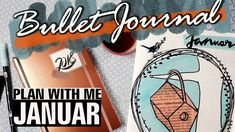 MEIN JANUAR 2018  // PLAN WITH ME // BULLET JOURNAL Planer, Lettering, How To Plan, Bullet Journal Ideas, January, Projects, Drawing Letters, Brush Lettering
