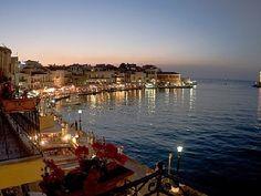 #Chania, #Crete--the #port at night!  www.cretetravel.com