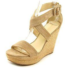 429832b032d6 Marc Fisher Haely Women US 9.5 Tan Wedge Sandal Slide Sandals