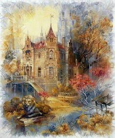 Золотые осенние пейзажи    Художник: Rimma N. Vjugovey