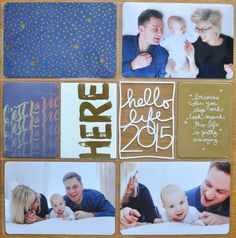 Title page by aasta at Pocket Scrapbooking, Scrapbook Cards, Scrapbooking Ideas, Project Life Baby, Project Life Layouts, Life Cover, Life Page, Studio Calico, Smash Book