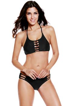 $24 - Black Cut Out Vintage Pinup Female Bikini INSTA FANCI - INSTA FANCI