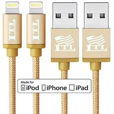 Introducing LTIDirect 2 Pack Apple MFi Certified 8 Pin Lightning 65FT Nylon Braided Cable Sync Charger Data Transfer For Apple iPhone SE iPhone 6 6S Plus 5S 5C 5 iPad Pro Air 4th Mini iPod Touch 5 6 Nano 7. Great product and follow us for more updates!