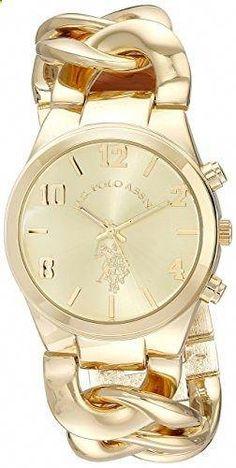 9d024437e15 U.S. Polo Assn. Women s USC40069 Gold-Tone Link Bracelet Watch. Go to the