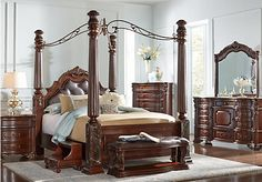 Shop for a Southampton 6 Pc Canopy Queen Bedroom at Rooms To Go. Find Queen Bedroom Sets that will look great in your home and complement the rest of your furniture.