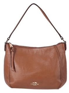 GB3003108  Authentic Coach Brown Leather Satchel Bag Grained leather  Gold tone hardware  Zip top closure  1 interior pocket.