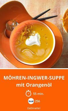 Möhren-Ingwer-Suppe - mit Orangenöl - smarter - Kalorien: 256 kcal - Zeit: 55 Min.   eatsmarter.de
