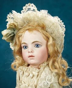 Forever Young - Marquis Antique Doll Auction: 51 French Bisque Blue-Eyed Bebe, Leon Casimir Bru, Size 5, Original Costume, Shoes
