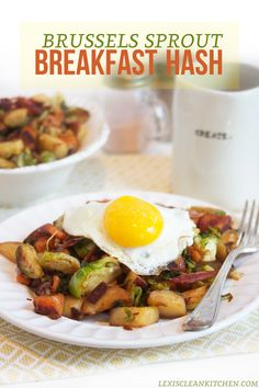Brussels Sprout Breakfast Hash! Gluten-free, dairy-free, whole30, paleo