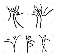 Ballet dancers illustration. (ballet, silhouette, sketch)