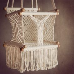 1000 images about kiddies play time on pinterest kids for Diy macrame baby swing