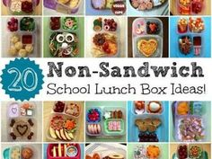 Non-Sandwitch Lunchbox Ideas {School Lunches}