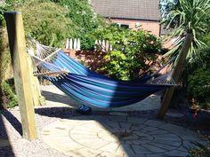 hammock project with railway sleepers