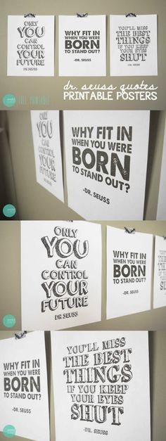 Do you love Dr. Seuss quotes? Me too . . . here are some favorites! Download these free printables.