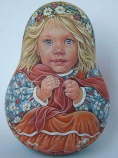 Author's 1 Kind Russian Roly Poly Nesting Like Reborn Baby Dolls Artist Usachova   eBay