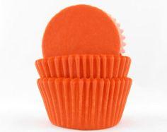 Orange Baking Cups, Cupcake Liners